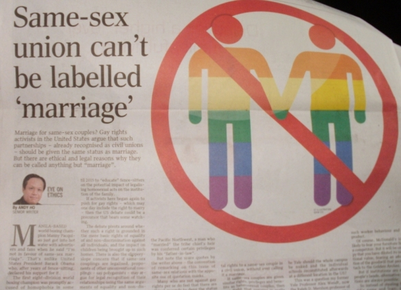 "Same-Sex Union Can't Be Labelled ""Marriage"""